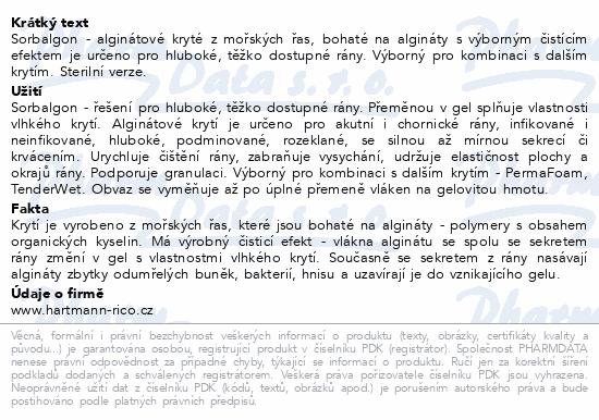 Informace o produktu Kompres Sorbalgon 5x5cm 10ks