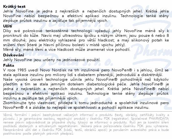 Informace o produktu Novofine jehly TM 100ks 30Gx8mm