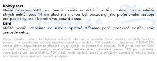 Informace o produktu Kleště na nehty celokov.s perkem 140mm SI-01