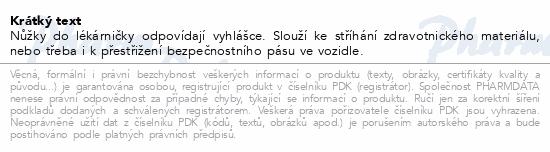 Informace o produktu Nůžky do lékárničky 110mm SI-021
