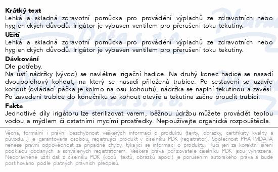 Informace o produktu Irigátor z PVC