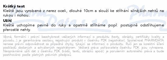 Informace o produktu Kleště na nehty malé 100mm SI-05