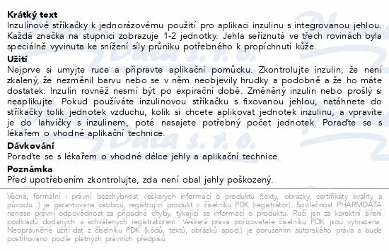 Informace o produktu Inzulin.stříkačky BD 1 ml 29G x 12.7mm U-100 100ks
