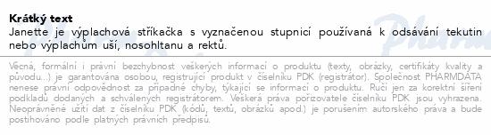 Informace o produktu Stříkačka výplach.Janette 150ml - balená