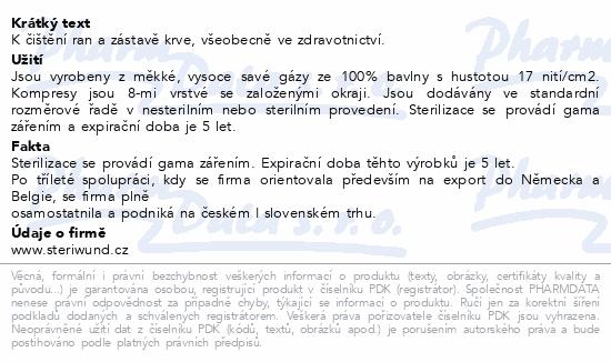 Informace o produktu Gáza hydr.kompr.ster.10x10cm/5ks Steriwund