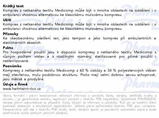 Informace o produktu Kompres Medicomp nester..5x5cm 100ks 4218215