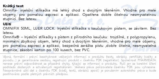 Informace o produktu Inj.střík.OMNIFIX 50ml Luer Lock bez Latex
