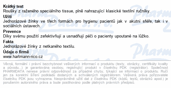 Informace o produktu ValaClean BASIC mycí žínky 16.5x23.5cm/50ks 992245