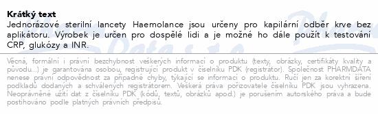 Informace o produktu Lancety 2703+Haemolance Plus pro dosp.zelené 100ks