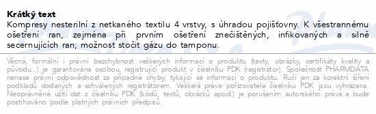 Informace o produktu Kompres net.text. nesteril.10x10/100ks 4vrstvy ZSZ