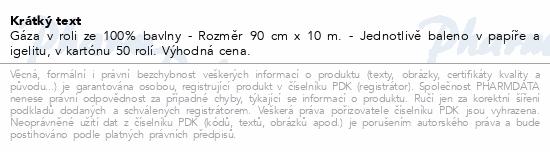 Informace o produktu Gáza hydr.role 10mx90cm 2a