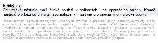 Informace o produktu Nůžky chir.rovné hrot.tupé 130mm