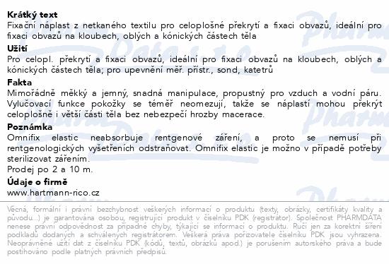 Informace o produktu Náplast Omnifix elas.5cmx10m/1cív. 9006021