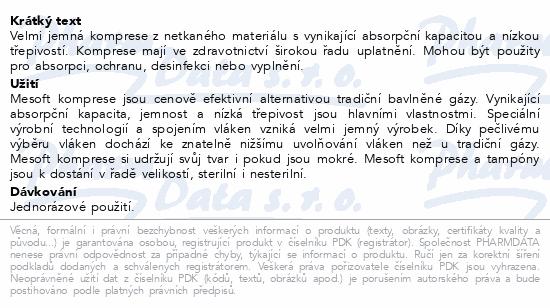 Informace o produktu Komprese Mesoft nester.10x10cm 100ks 157300