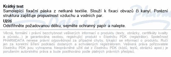 Informace o produktu Fixace Mefix samolep.10mx5cm 310500