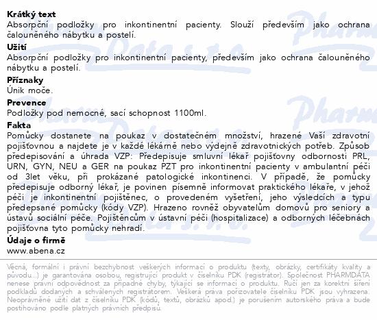 Informace o produktu Inkont. podložky Abri Soft Classic 40x60cm. 60ks