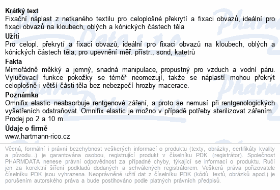 Informace o produktu Náplast Omnifix elas.15cmx10m/1cív. 9006041