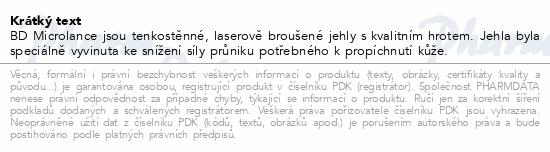 Informace o produktu BD Microlance Inj. jehla 27G 0.40x19 šedá 100ks