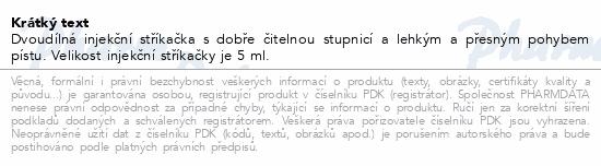 Informace o produktu BD Discardit 2dílná Inj. stříkačka 5ml 100ks