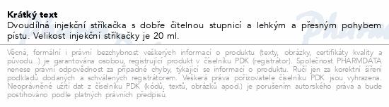 Informace o produktu BD Discardit 2dílná Inj. stříkačka 20ml 80ks