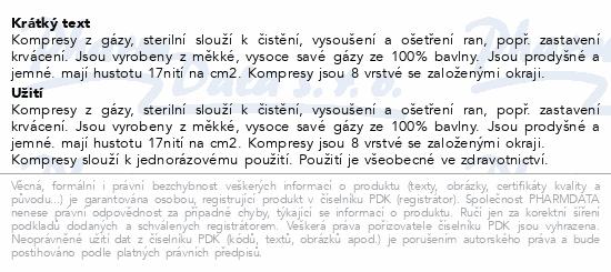 Informace o produktu Gáza kompr.nester.10x10cm/100ks 8vrstev