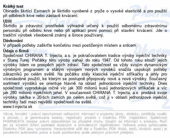 Informace o produktu Obin.škrtící Esmarch 30x700mm