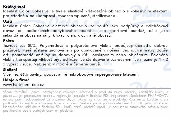 Informace o produktu Obin.elast.Idealast color 4cmx4m/1ks červ.9310950