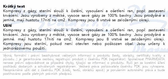 Informace o produktu Gáza kompr.ster.Steriko 10x10/25x2 8 vrstev