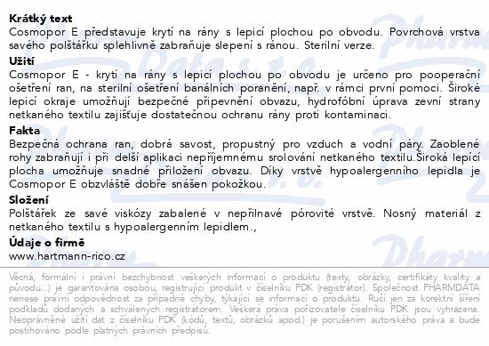 Informace o produktu Rychloobvaz COSMOPOR E steril.15x8cm/25ks