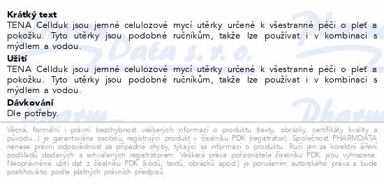 Informace o produktu TENA Cellduk mycí utěrka 200ks 744000