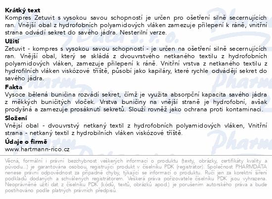 Informace o produktu Kompres Zetuvit nester.10x20cm 30ks