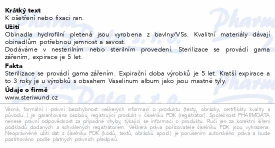 Informace o produktu Obin. hydrofil.pletené ster.10cmx5m/1ks Steriwund