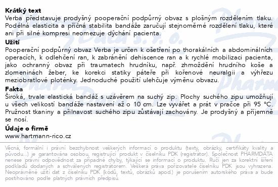 Informace o produktu Pás břišní Verba podpůrný vel.3/1ks 85-95cm