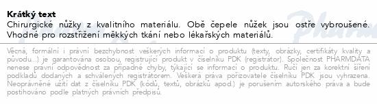 Informace o produktu Nůžky chir.hrotnaté 140mm ZSZ