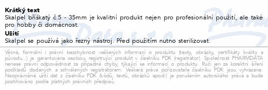 Informace o produktu Skalpel bříškatý č.5 35mm ZSZ