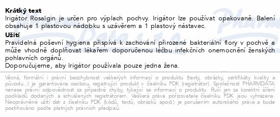 Informace o produktu Rosalgin Irigátor pro gynekologické použití
