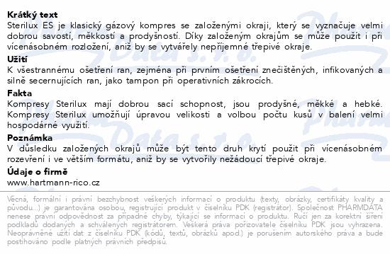 Informace o produktu Gáza kompr.nester.Sterilux 10x20cm/100ks 17vl8vrst