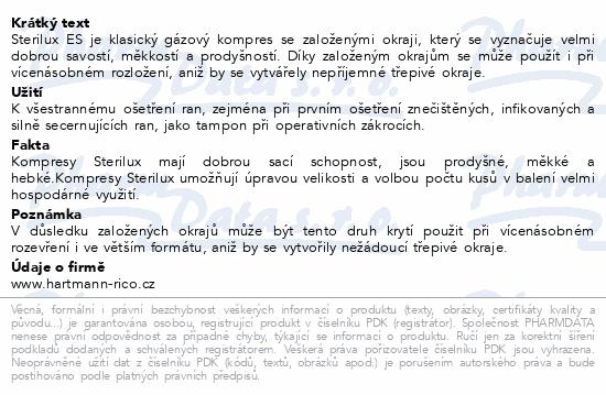 Informace o produktu Gáza kompr.nester.Sterilux 7.5x7.5cm/100ks 13vl8vr