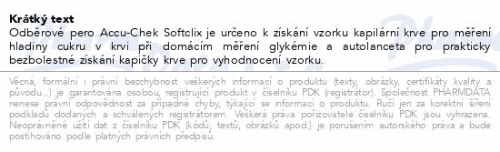 Informace o produktu Accu-Chek Softclix