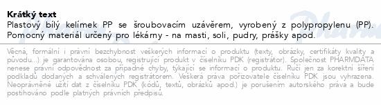 Informace o produktu Kelímek PP se šroub.uzávěr.10g 21000 20ks Manta