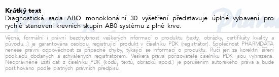 Informace o produktu Diagnost.soup.ABO set monokl.na 30 vyšetření