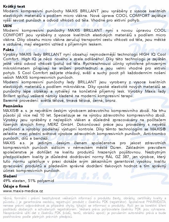 Informace o produktu Maxis BRILLANT-steh.punč.v.4K krajka.bronz se šp.