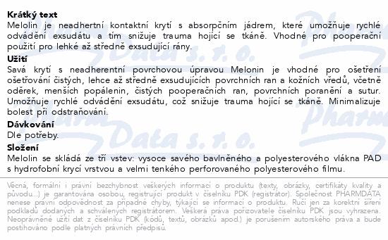 Informace o produktu Melolin krytí 10x10cm sterilní nepřil.na rány 10ks