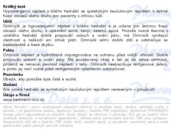 Informace o produktu Náplast Omnisilk bílé hedvábí 2.5cmx9.2m/1ks