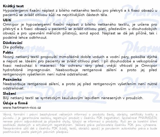 Informace o produktu Náplast Omnipor netkaný textil 1.25cmx9.2m/1ks