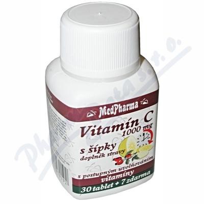 Zobrazit detail - MedPharma Vitamín C 1000mg s šípky tbl. 37 prod. úč.