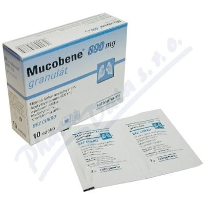 Zobrazit detail - Mucobene 600mg gra. 10x3gm-600mg-SA