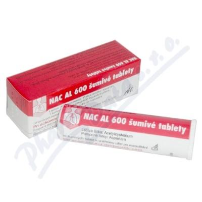 Zobrazit detail - NAC AL 600 Šumivé Tablety por. tbl. eff. 10x600mg