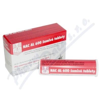Zobrazit detail - NAC AL 600 Šumivé Tablety por. tbl. eff. 20x600mg