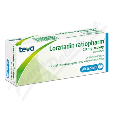 Zobrazit detail - Loratadin-Ratiopharm 10mg por. tbl. nob. 30x10mg